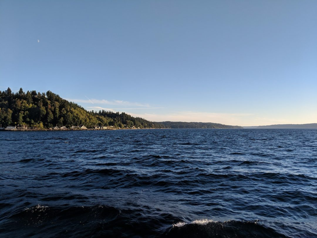 View of Puget Sound from Seattle ferry