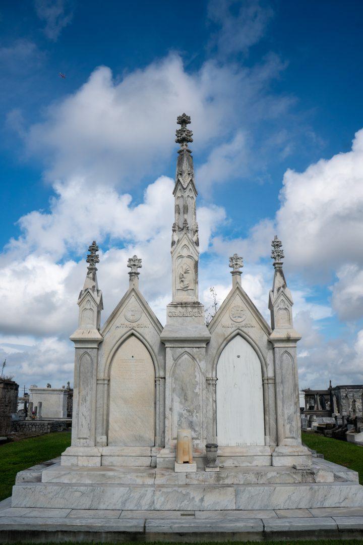 Mausoleum in New Orleans cemetery