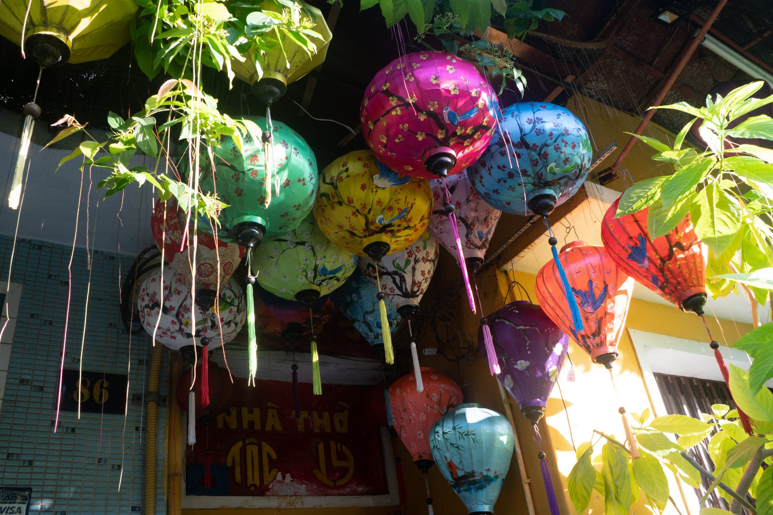 Vietnamese cloth lanterns