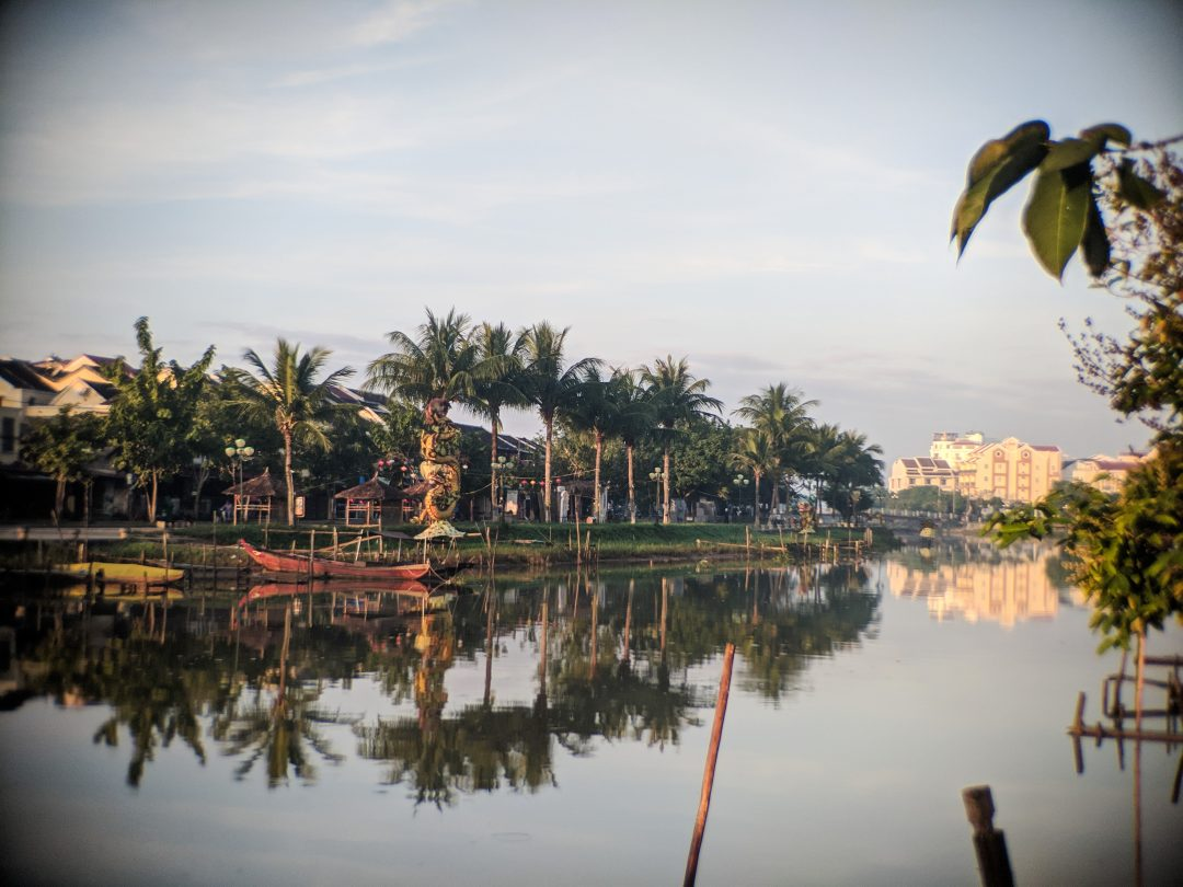 Riverfront view along Hoi An Old Town