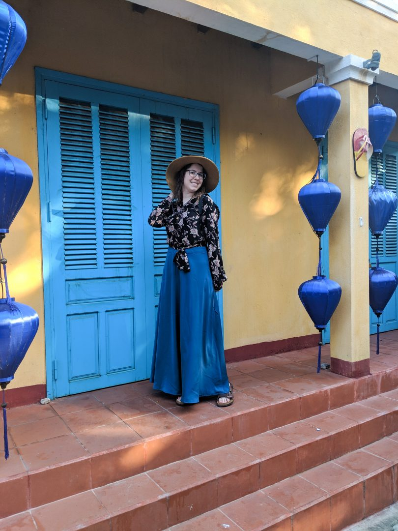 Woman in custom-made skirt Hoi An