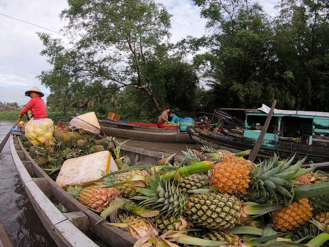 Local small produce seller Mekong Delta