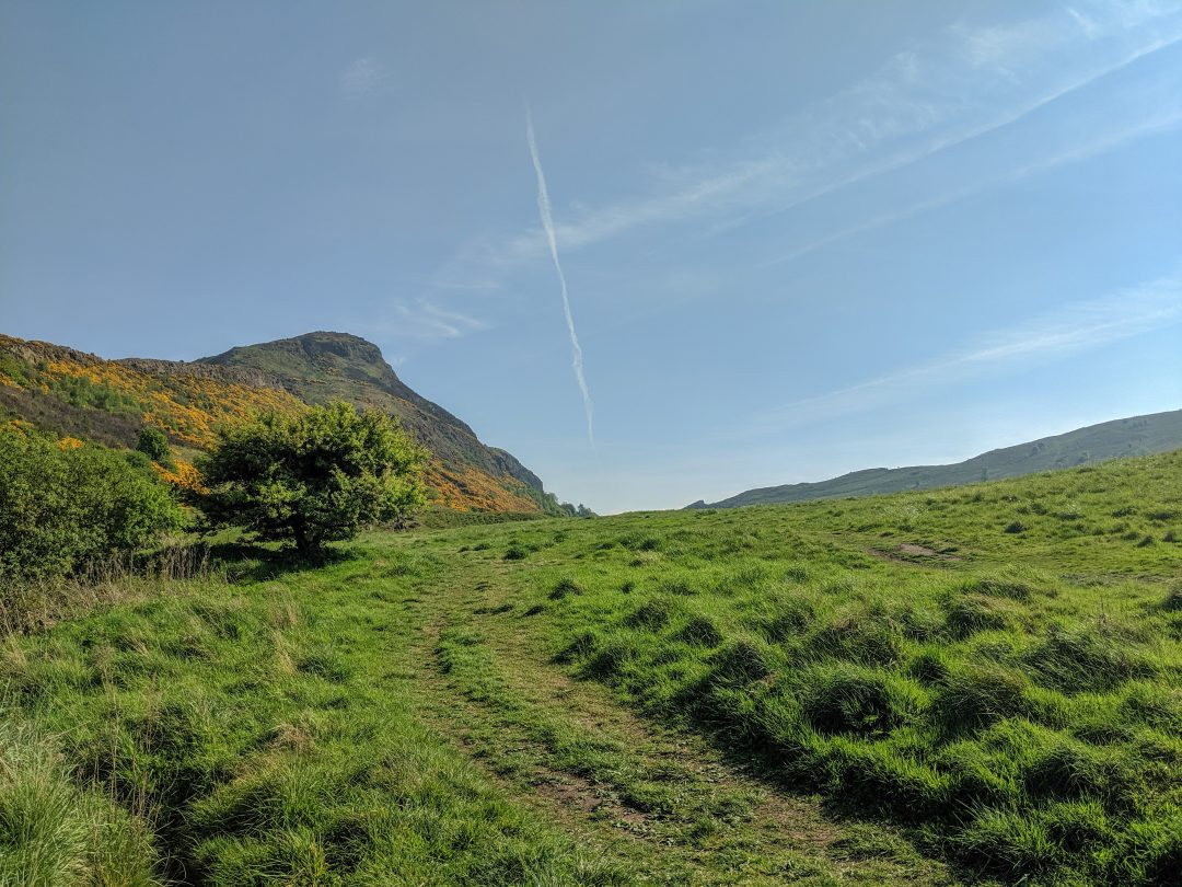 Arthurs Seat hike in Edinburgh Scotland