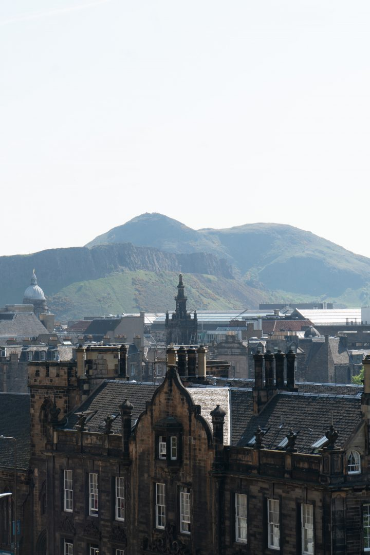 Edinburgh with Arthur's Seat in background