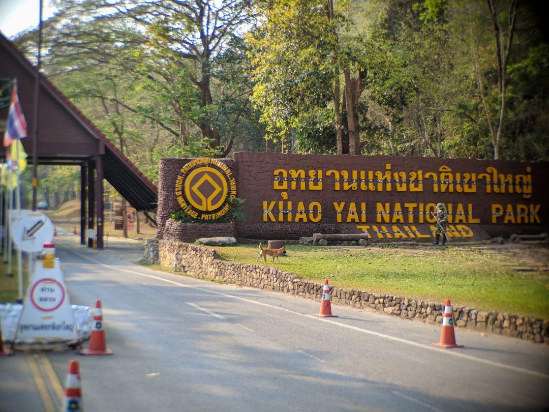 Entrance to Khao Yai National Park in Thailand
