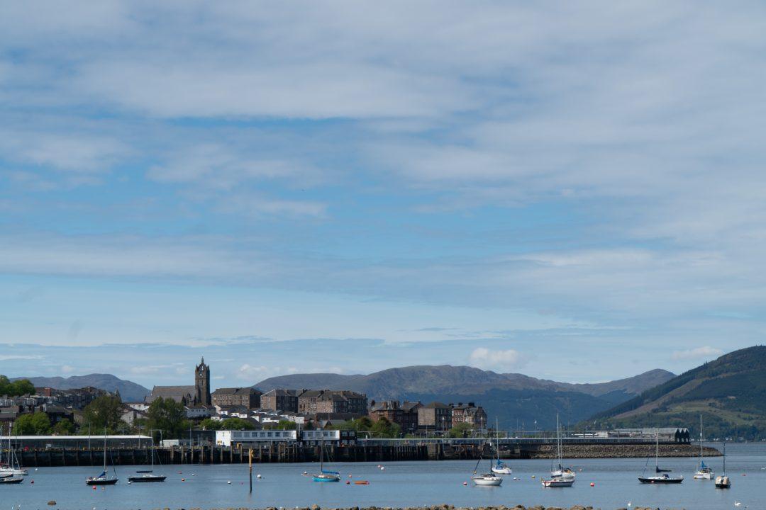 Gourock harbor Scotland