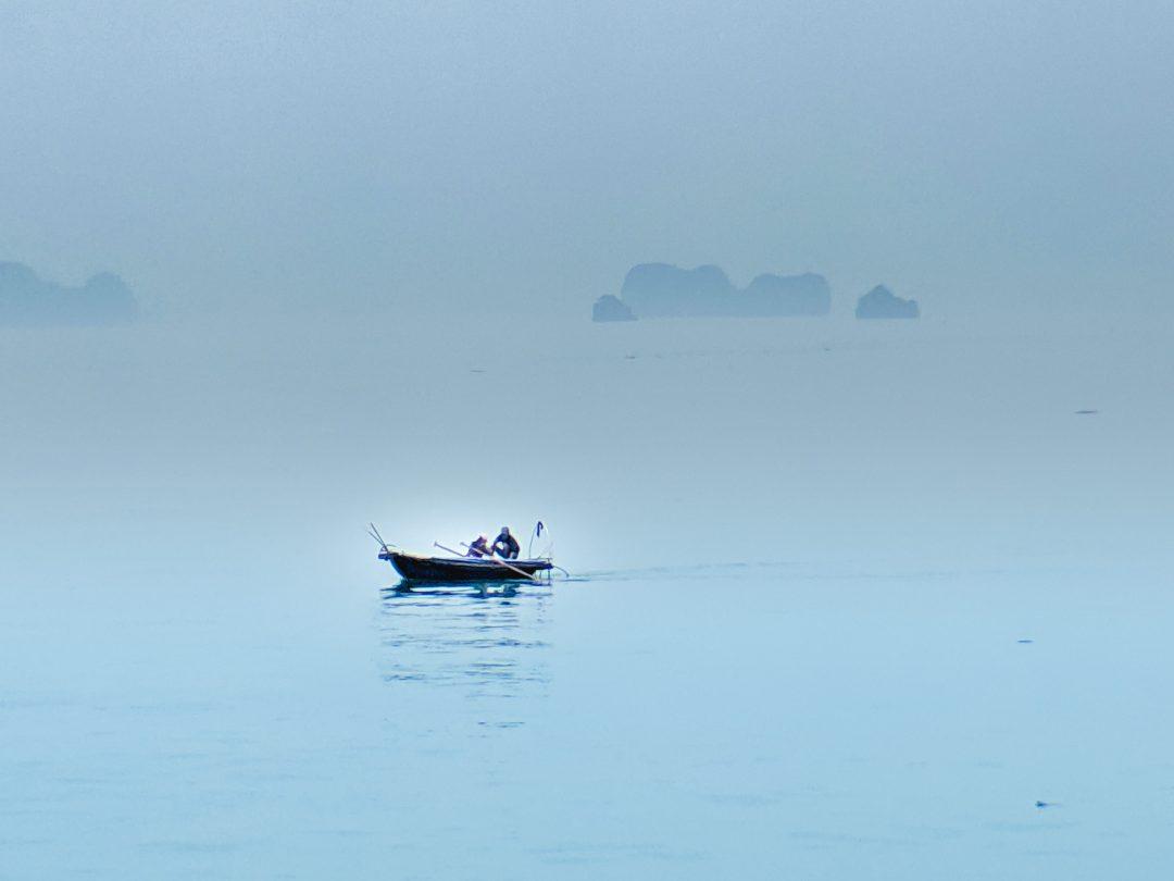 Fishing Boat on Ha Long Bay