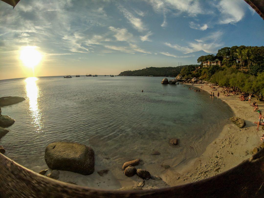 Freedom beach at sunset