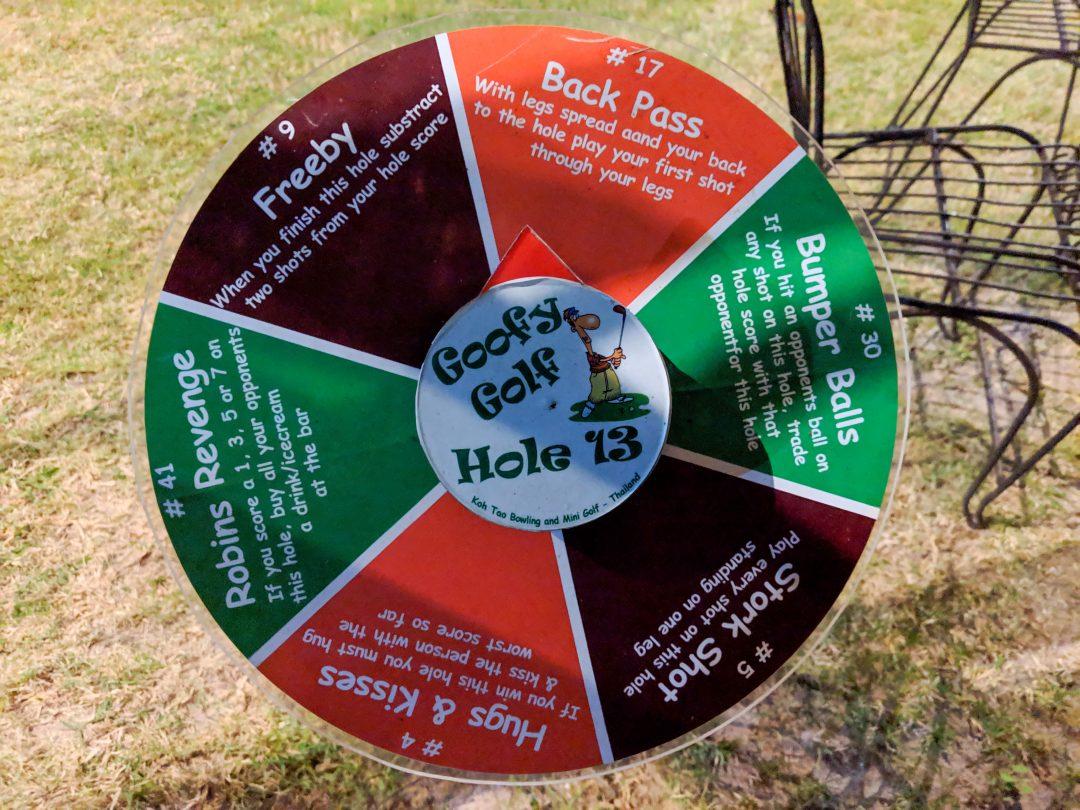Goofy golf rules