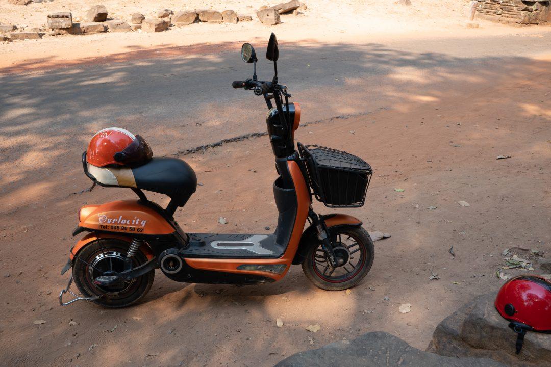 E-bike at Angkor Wat temple complex