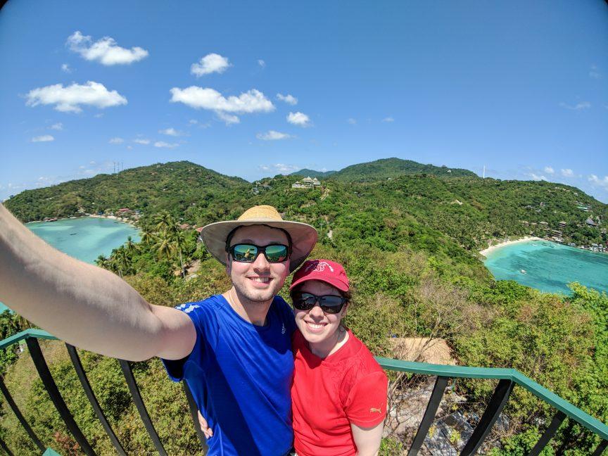 Couple at Koh Tao viewpoint