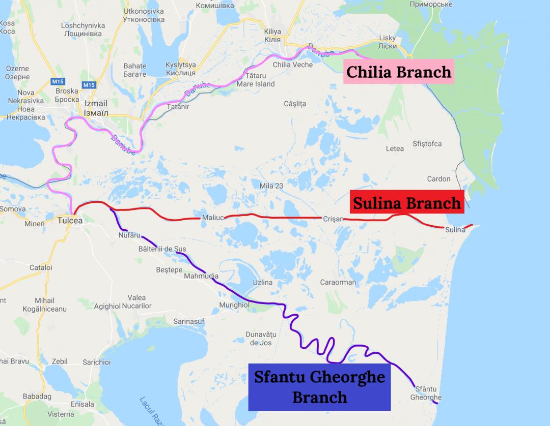 Branches of the Danube Delta