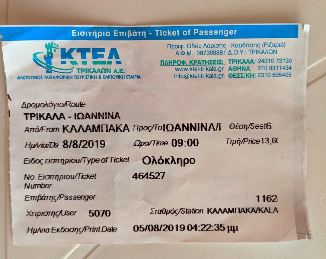 KTEL Bus Tickets
