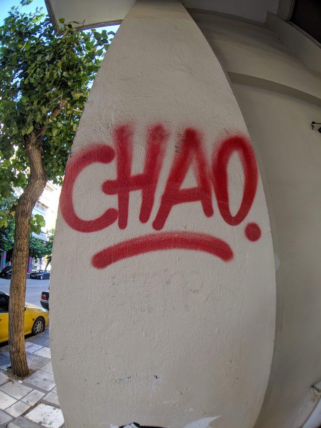 Chao graffiti in Greece