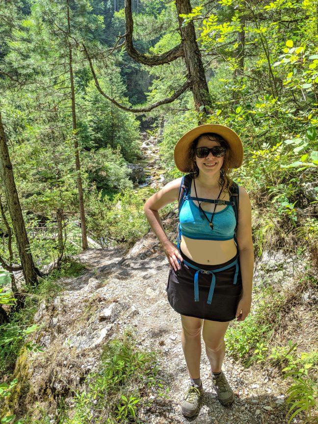 Woman on E4 trail.