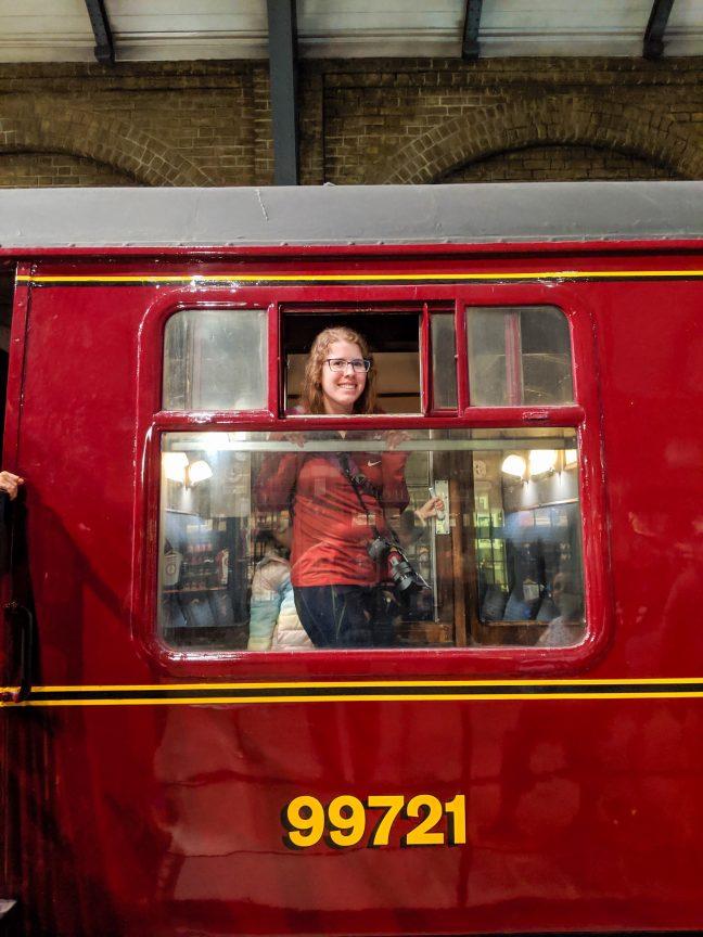 Woman on Hogwarts Express Train