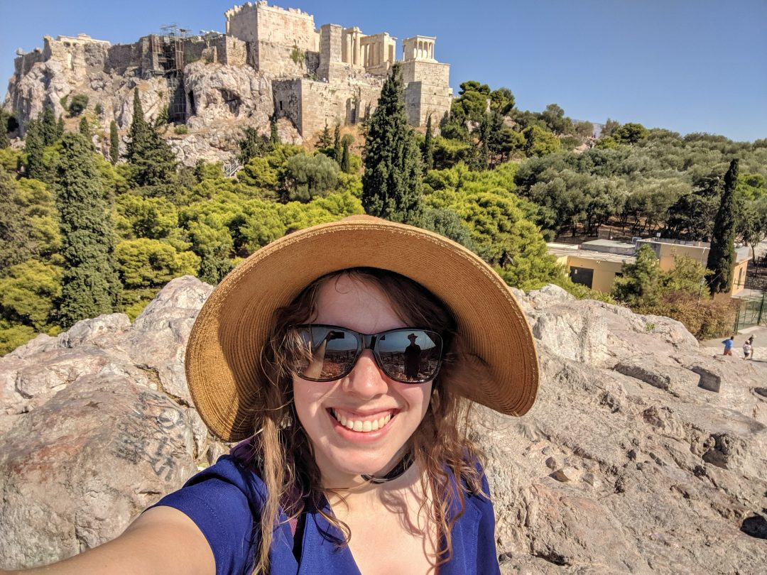 Woman with sunhat in Athens