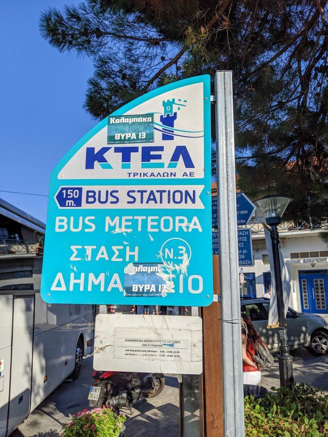 KTEL Bus Stop in Greece