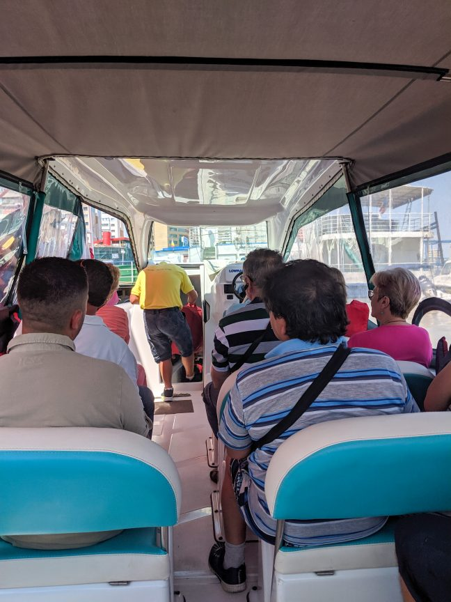 Onboard the Travel Delta Star water taxi