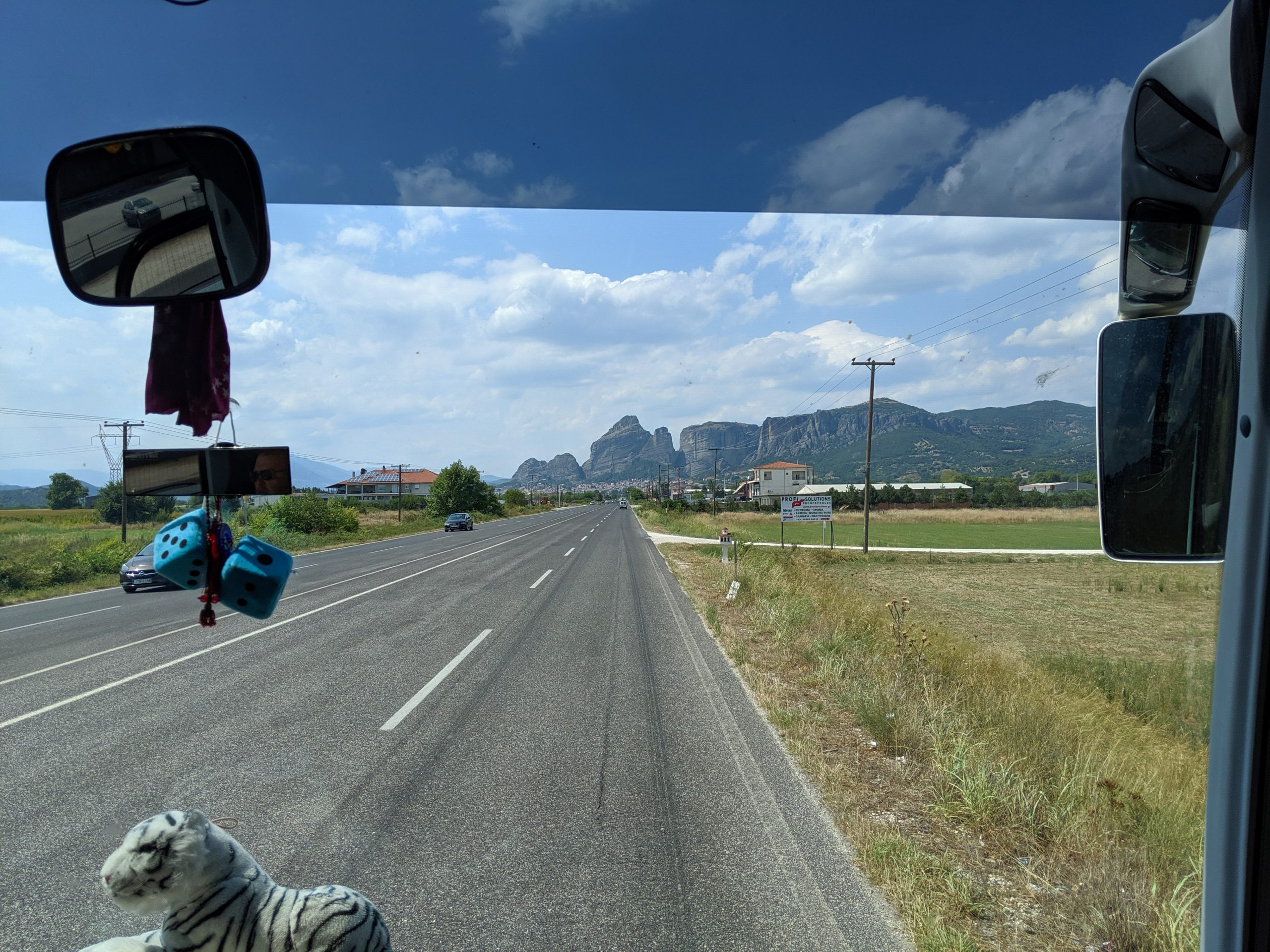 View from Bus in Greece