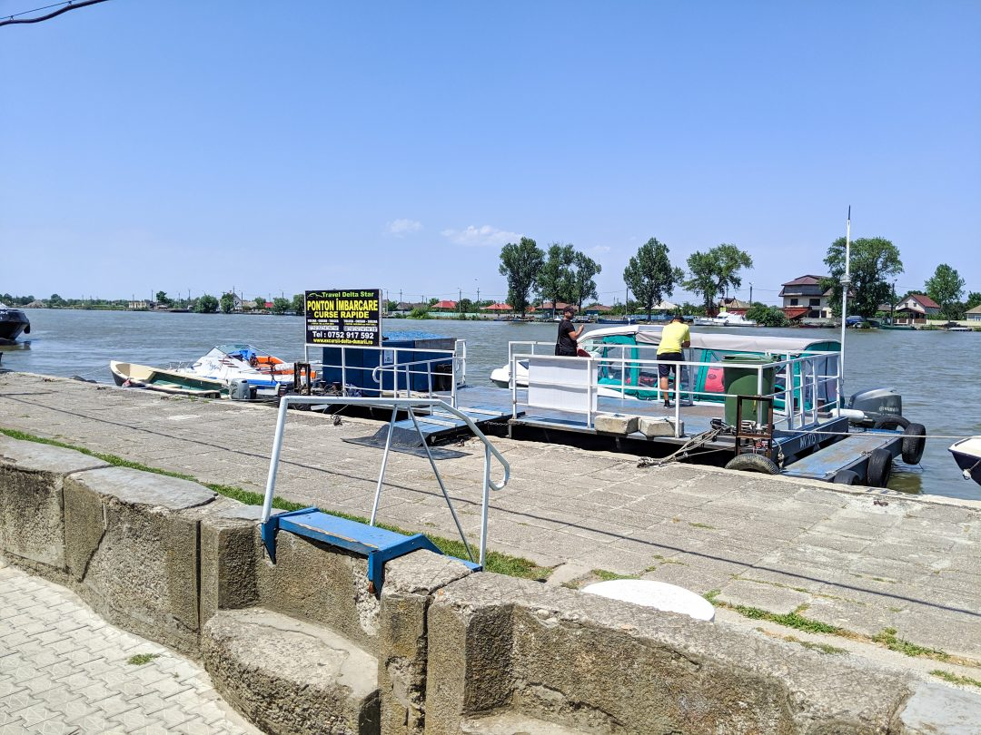 Water taxi dock in Sulina