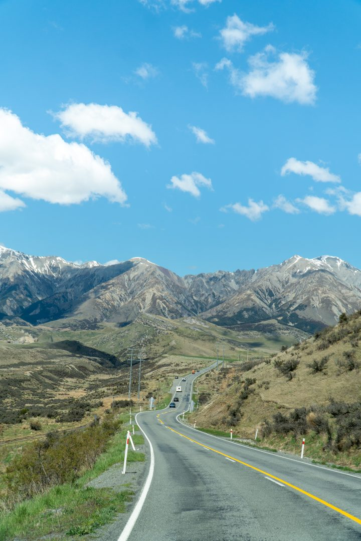 Leaving Arthurs Pass on way to Christchurch. Touring New Zealand