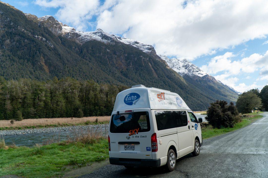 Euro Sky Campervan in Fiordland National Park