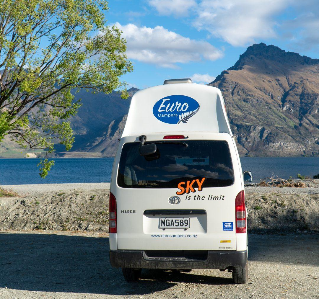 Back of Euro Campers Campervan