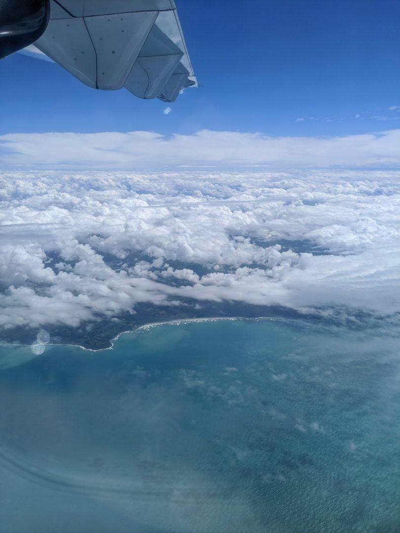 Flight into Christchurch New Zealand
