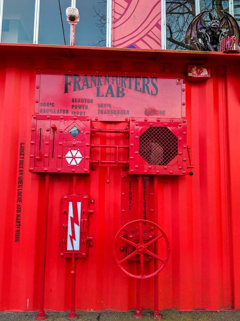 Rocky Horror themed public restroom in Hamilton New Zealand