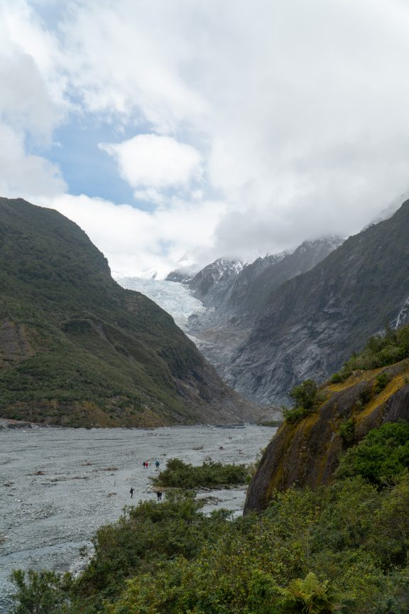 Franz Josef Glacier in New Zealand. Beacons of Gondor in LotR.