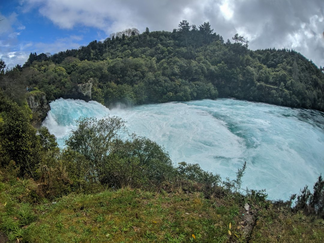 Huka Falls near Lake Taupo in New Zealand.