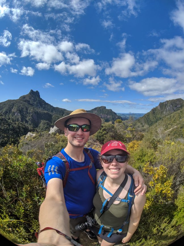 Couple selfie Pinnacles Forest Cormandel Peninsula