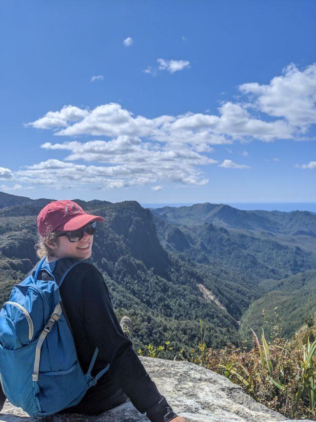 Woman in Pinnacles Park Coromandel Peninsula