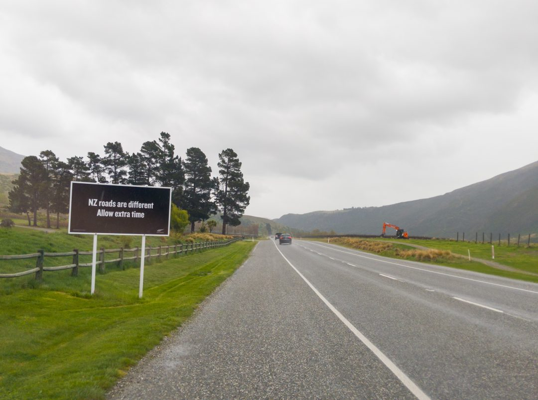 Allow extra time while driving in New Zealand