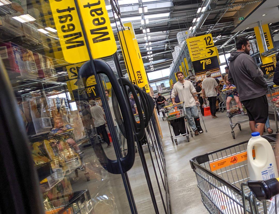 Grocery store scene.