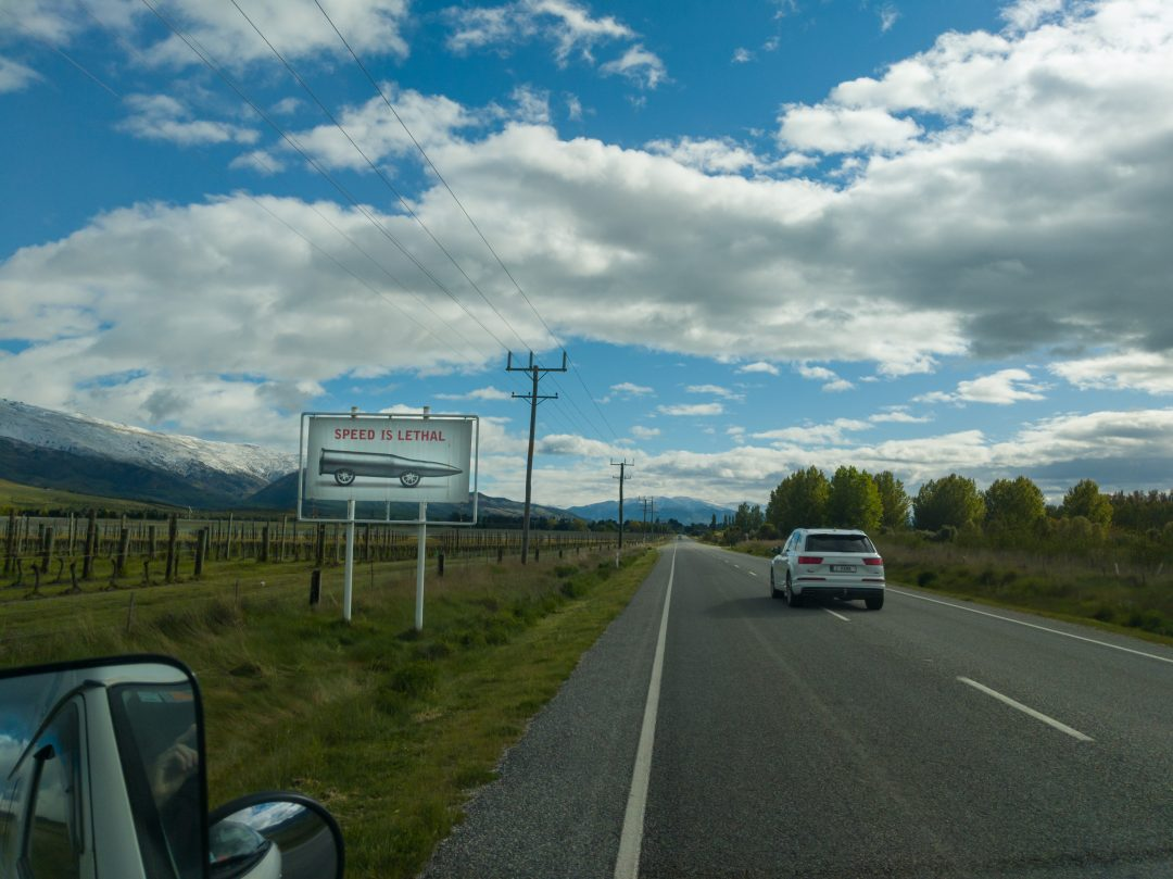 Driving Tips for New Zealand. Let faster cars pass you.
