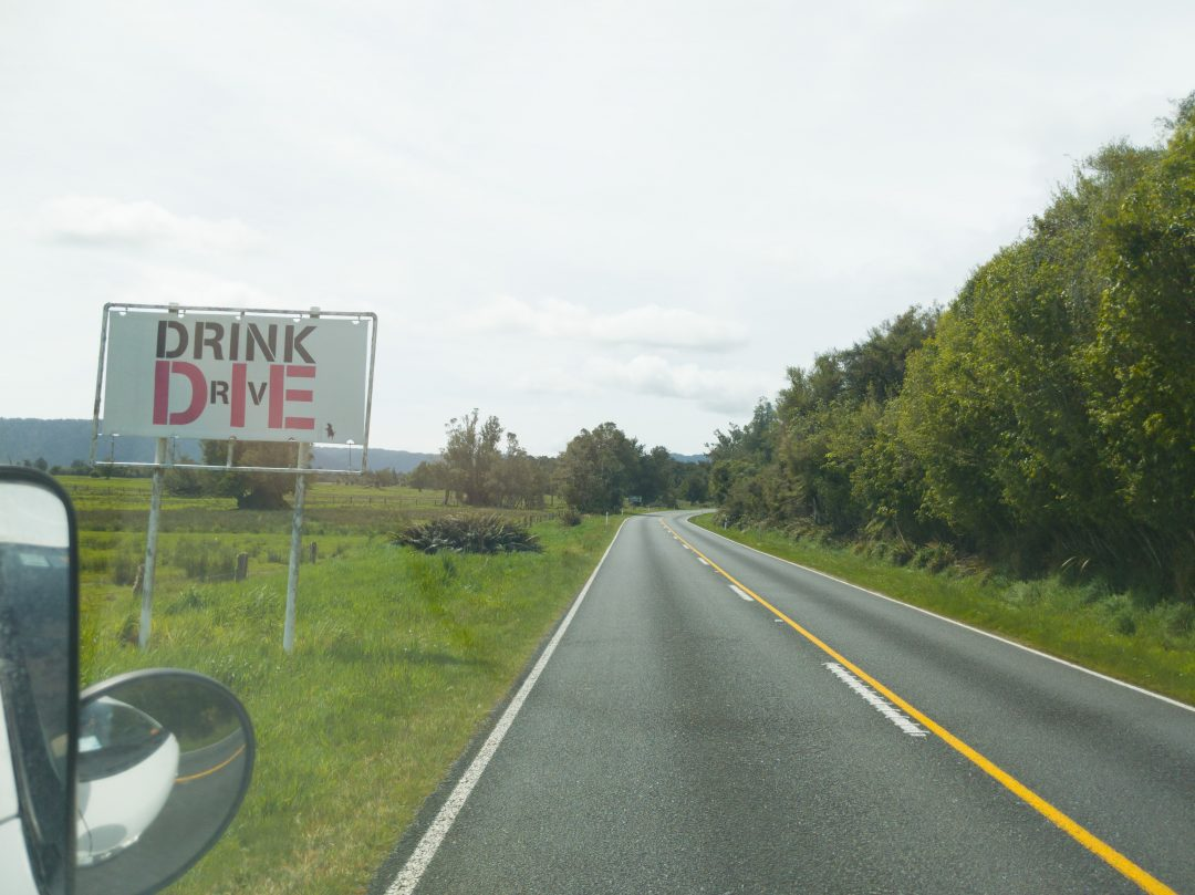 New Zealand Driving Tips: Don't drive and drive.