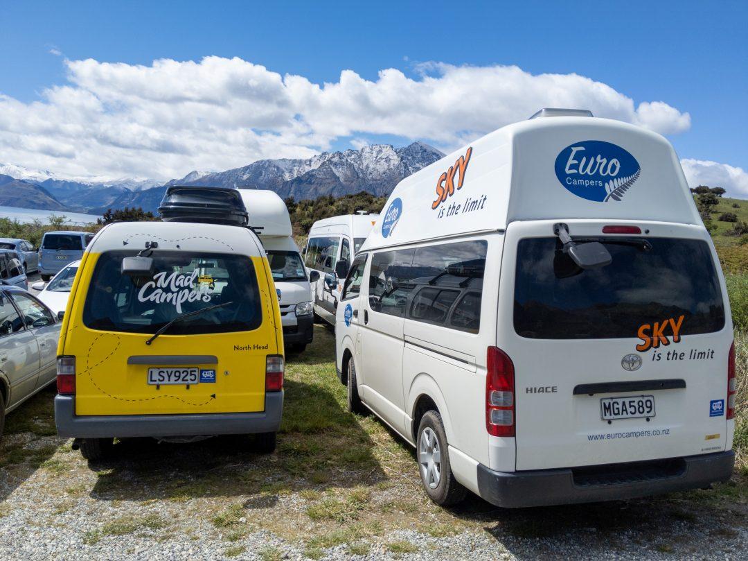 campervans parked side by side