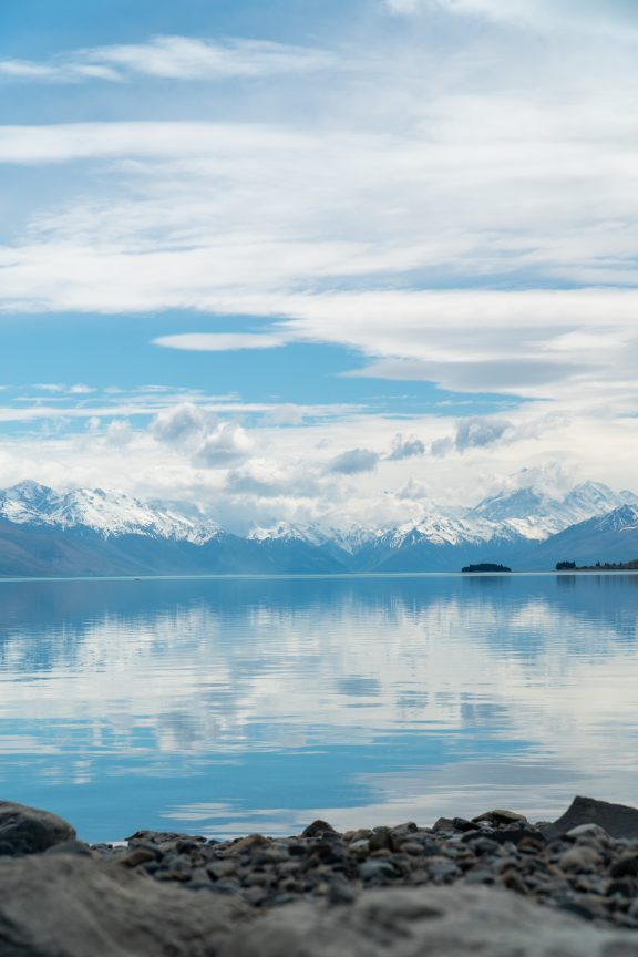 Laketown from The Hobbit. Lake Pukaki in New Zealand.