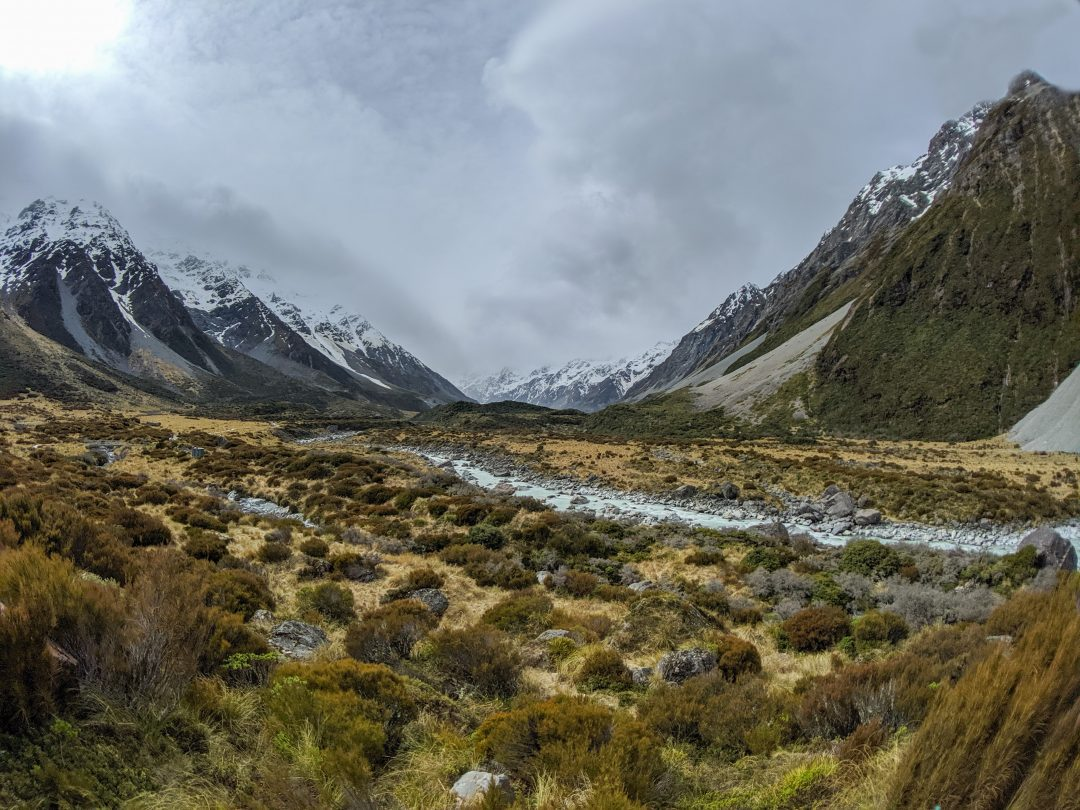 Mount Cook in New Zealand. The Lonely Mountain in LotR.