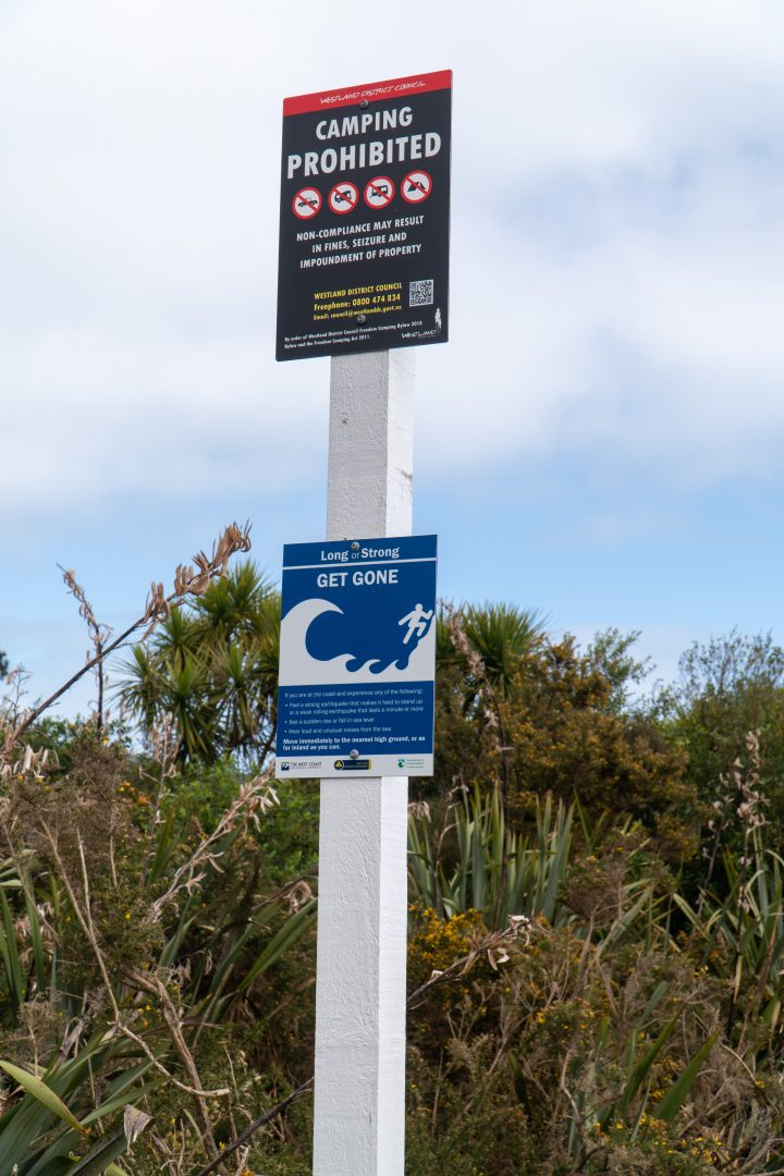No Freedom Camping Zone Sign