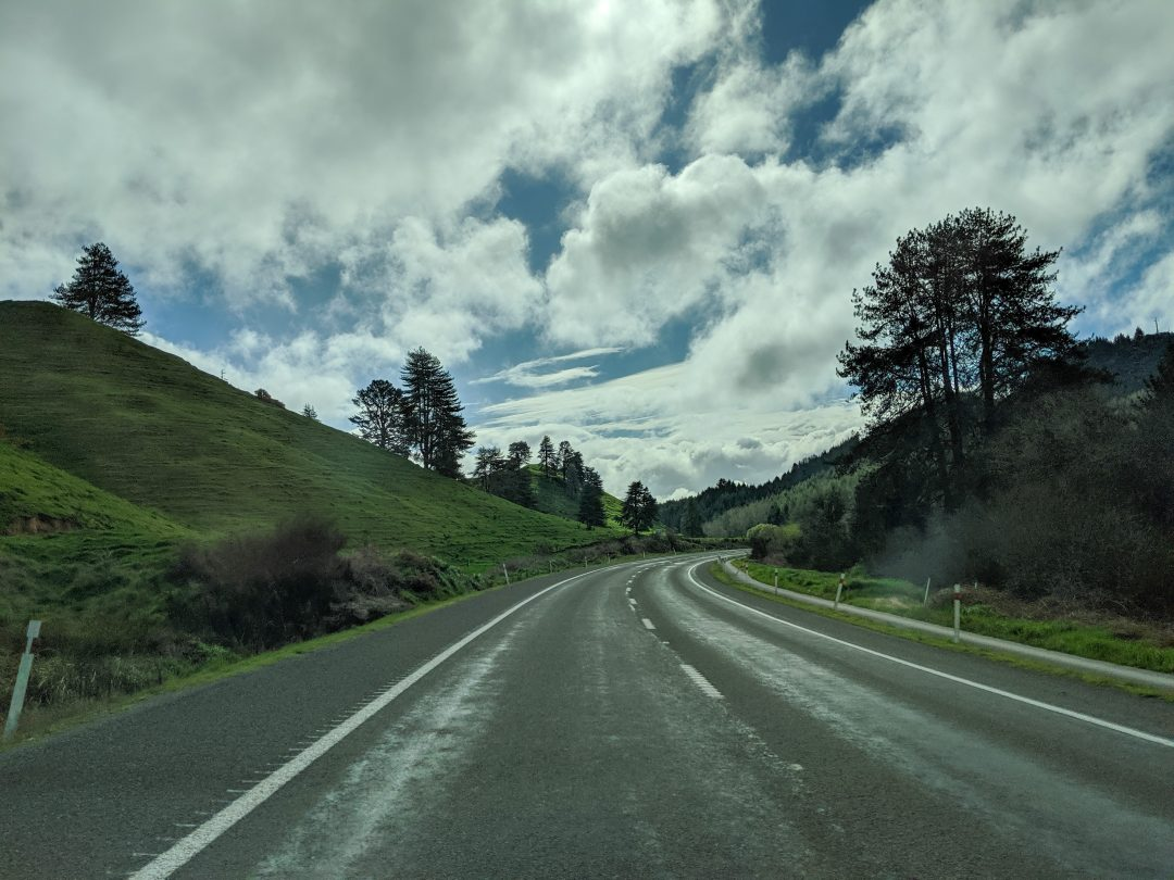The start of a 2 week north island road trip in New Zealand