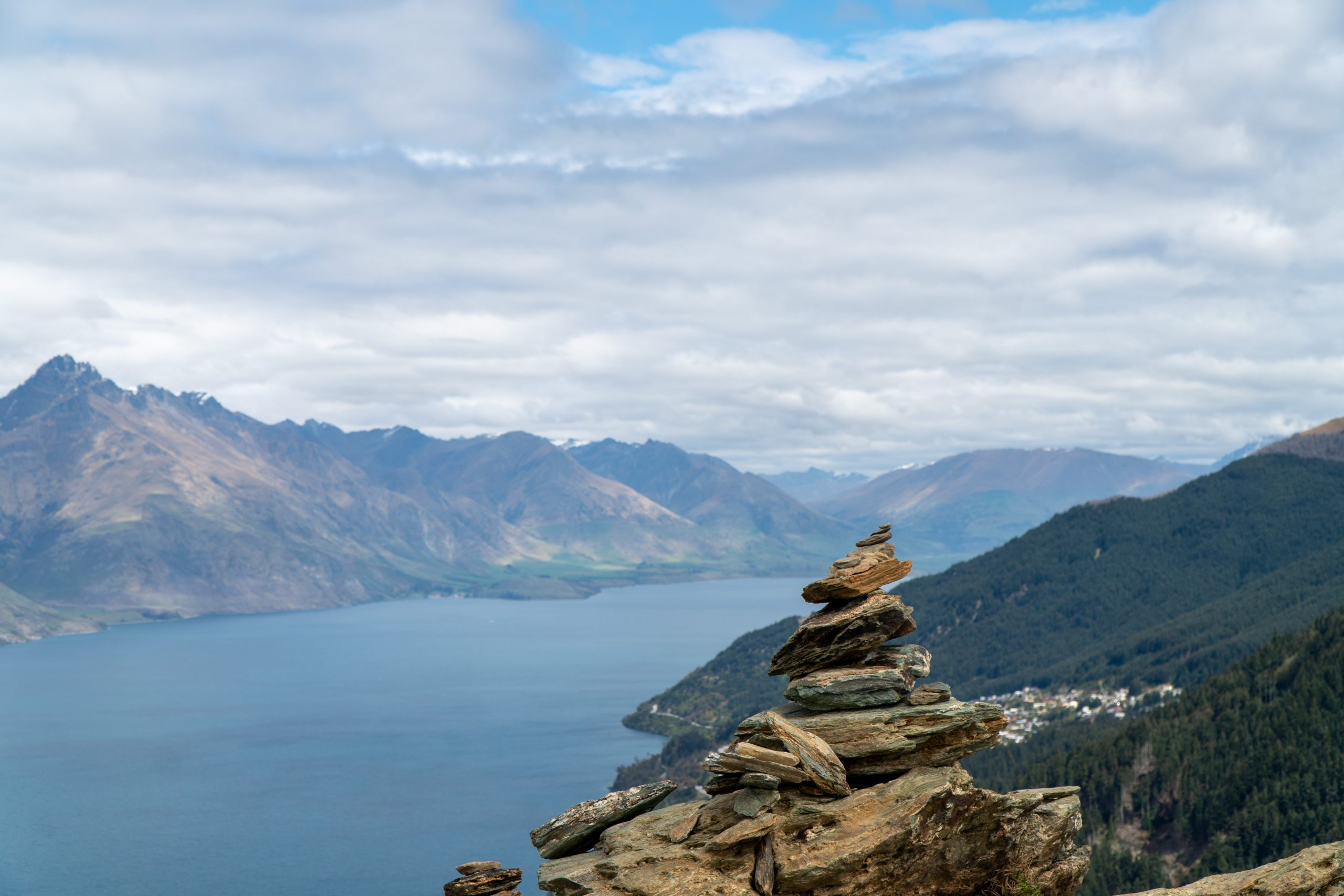 View of Queenstown. 2-week South Island New Zealand itinerary,