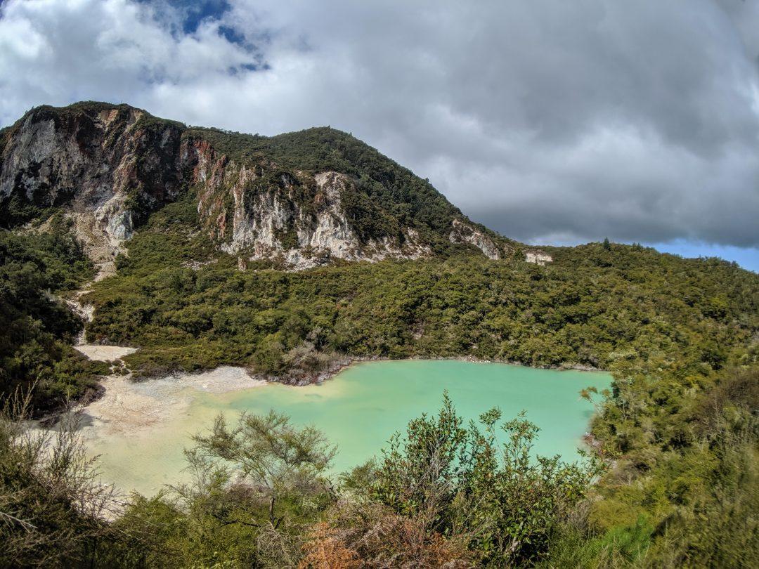 Rainbow Mountain Hike Rotorua. North Island New Zealand.