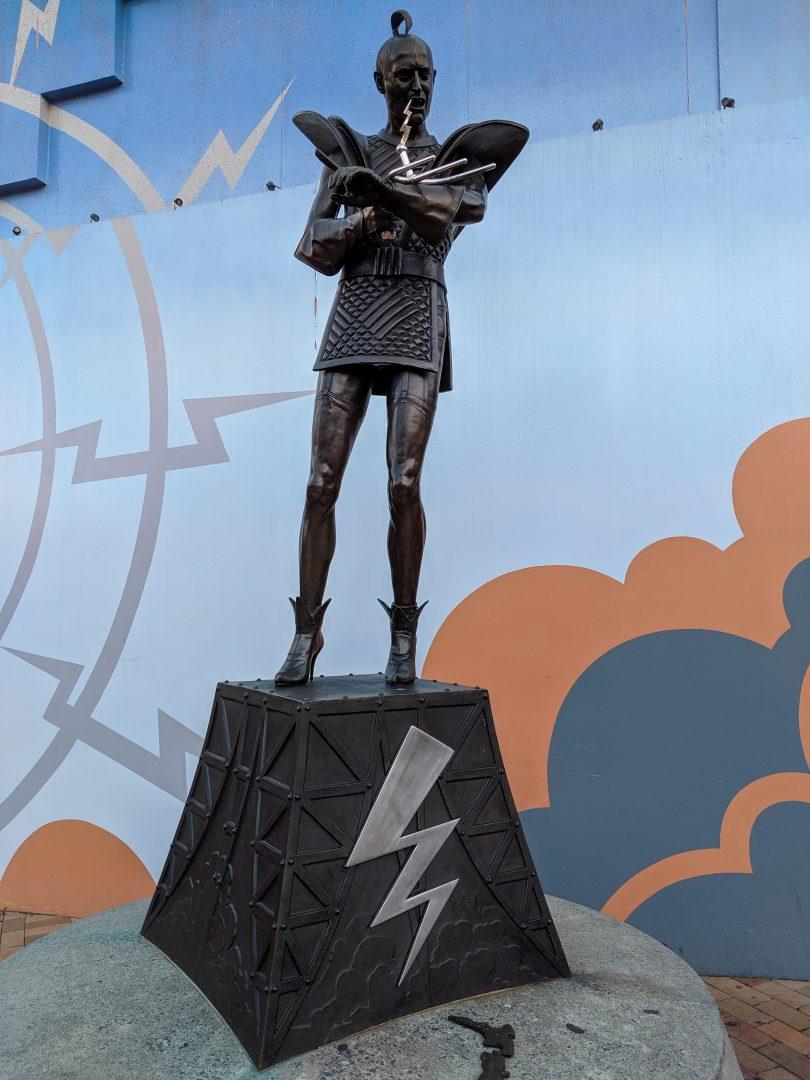 Riff Raff statue Rocky Horror Picture Show