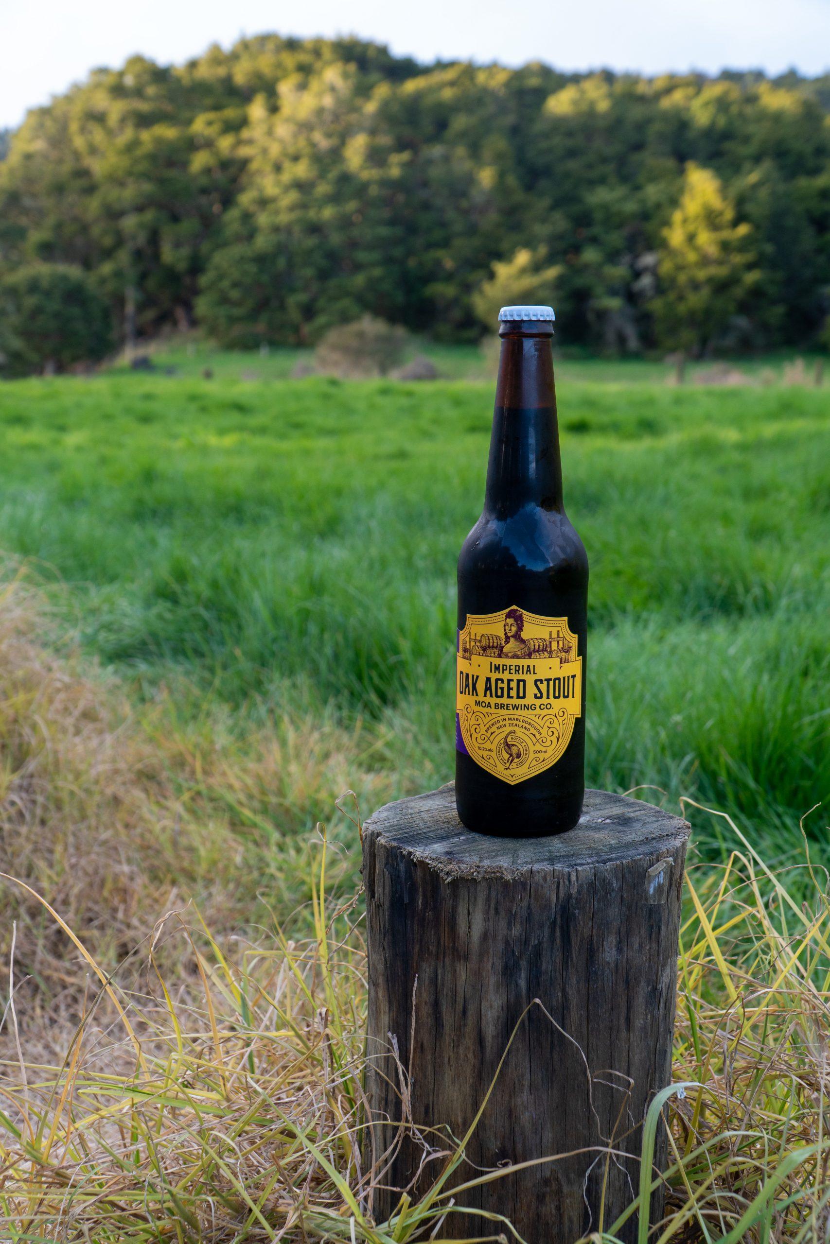 New Zealand Local Beer Bottle Shot