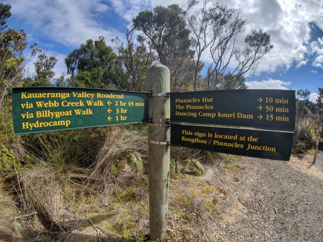 Pinnacles Walk Trail Sign