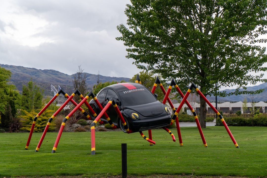 watch out for bugs. VW spider art.