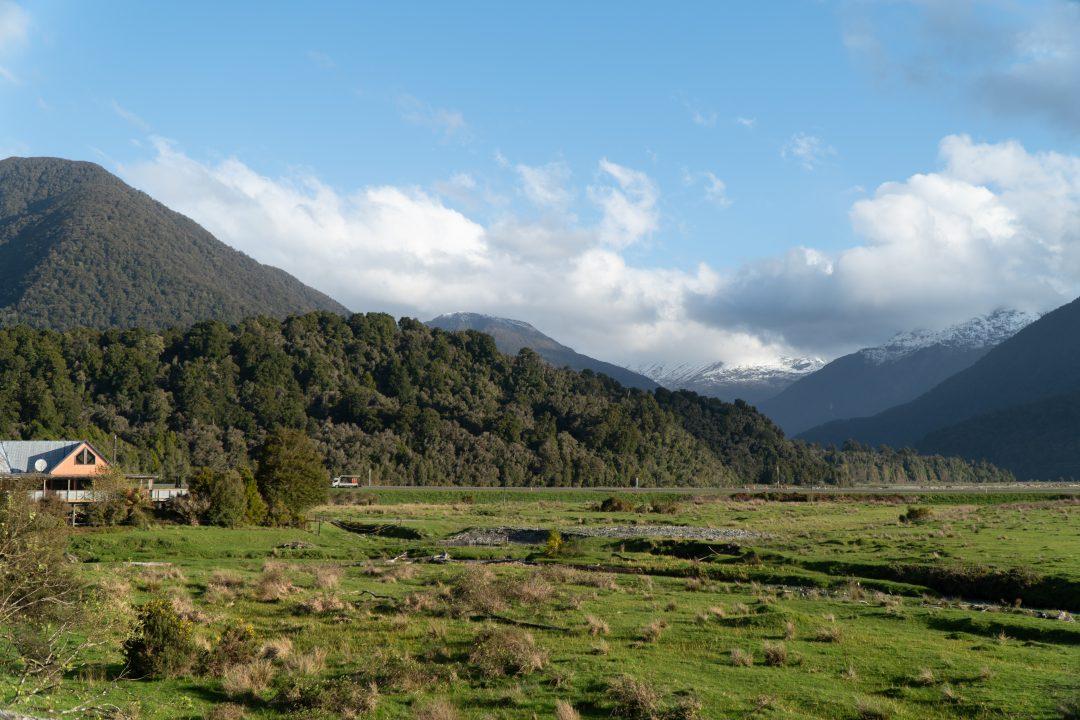 Freedom Campsite on New Zealand South Island West Coast Drive